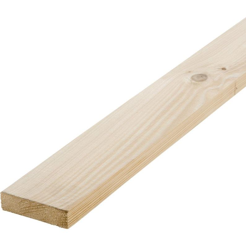Lot De 3 Planches Sapin Petits Noeuds Raboté 21 X 93 Mm L18 M