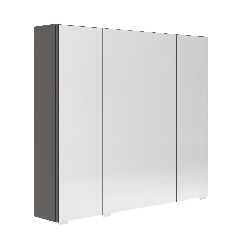 Armoire de toilette l 80 cm gris opale leroy merlin - Eclairage pour armoire de toilette ...