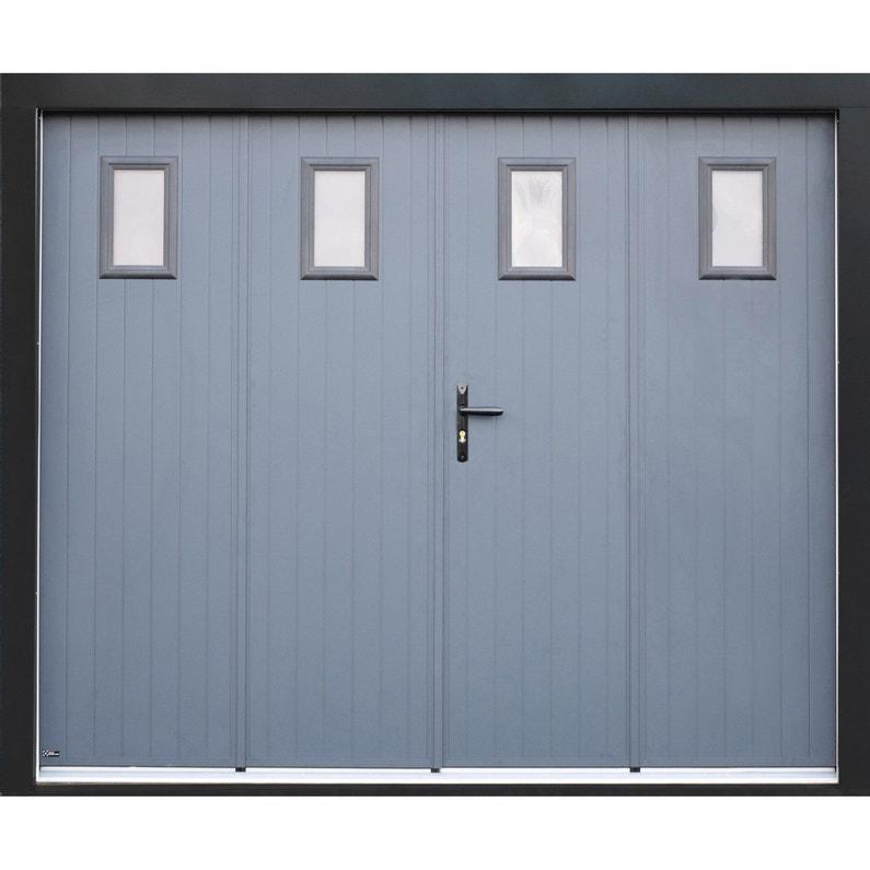Porte De Garage Pliante Manuelle Artens Essentiel 200 X 240 Cm Avec Hublot
