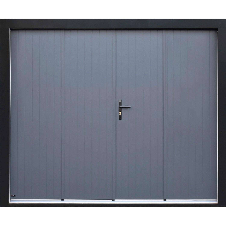 Porte De Garage Pliante Manuelle ARTENS Essentiel X Cm - Porte de garage a la francaise
