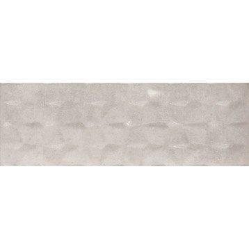 Faïence mur gris, Decor metallica muretto 3d l.20 x L.60 cm