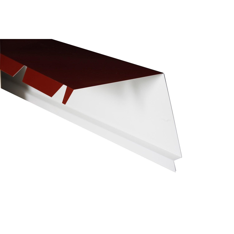 Faîtière Sur Mur Pour Plaque Nervurée Rouge L21 M