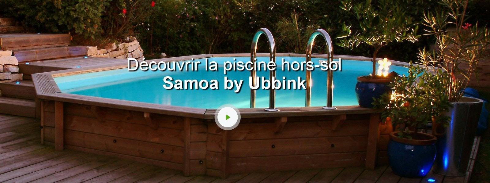 Piscine hors sol bois samoa l x l x h 1 2 m for Pompe piscine hors sol leroy merlin