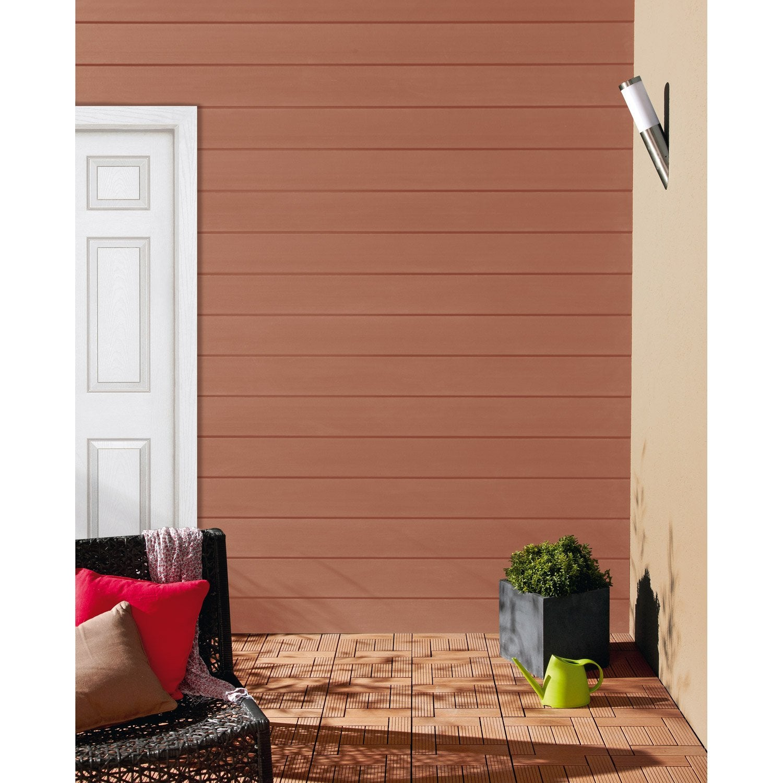 clin pour bardage bois composite bois rouge xyltech 2 7 m leroy merlin. Black Bedroom Furniture Sets. Home Design Ideas