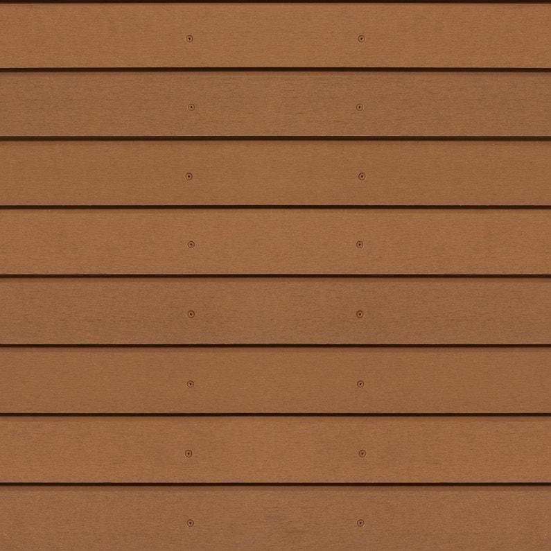 clin pour bardage bois composite marron teck xyltech 2 7 m leroy merlin. Black Bedroom Furniture Sets. Home Design Ideas