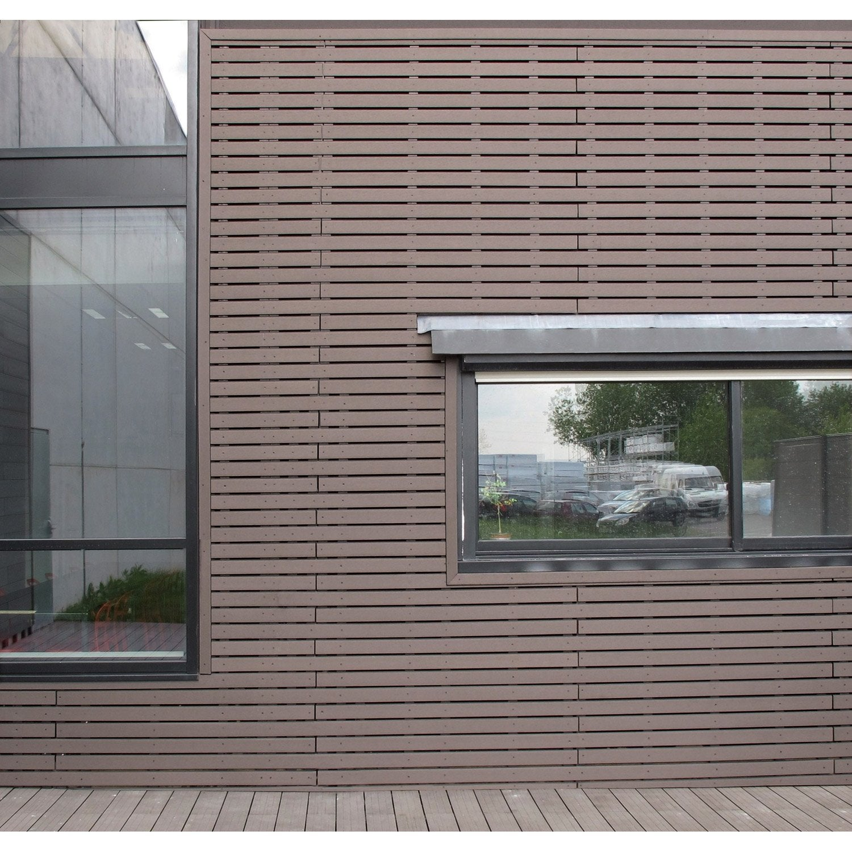 clin pour bardage bois composite marron chocolat xyltech 2. Black Bedroom Furniture Sets. Home Design Ideas