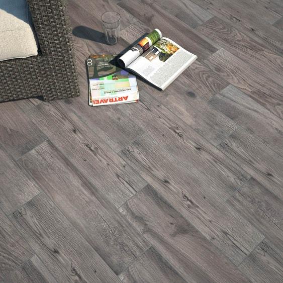 carrelage sol gris effet bois elbe x cm leroy. Black Bedroom Furniture Sets. Home Design Ideas