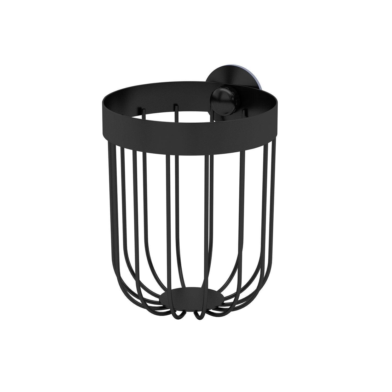 Panier de bain / douche rond à ventouser, black 0, Neo