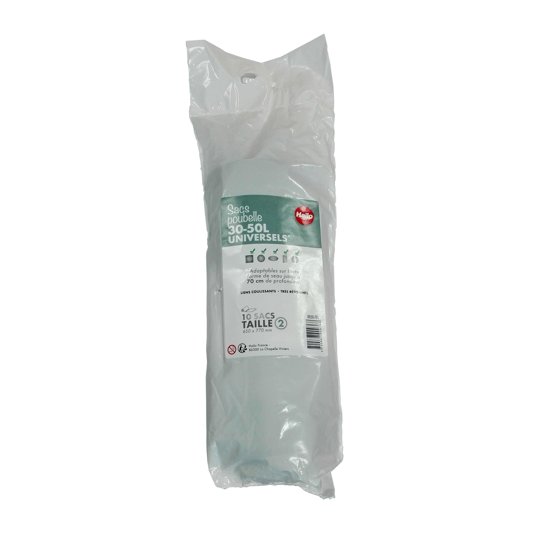 Sacs Poubelle 50 L Hailo Plastique Noir