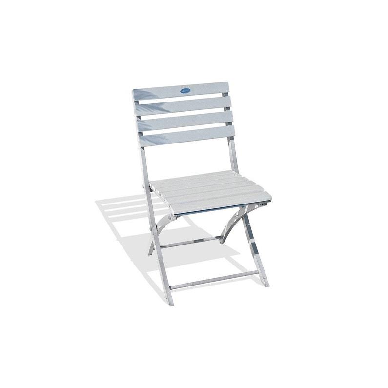 Chaise De Jardin En Aluminium Marius Gris