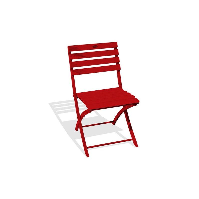 Chaise De Jardin En Aluminium Marius Rouge