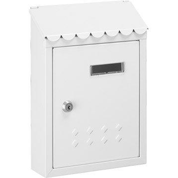Boîte aux lettres rénovation 1 porte DECAYEUX Thesee, acier blanc