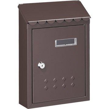 Boîte aux lettres rénovation 1 porte DECAYEUX Thesee, acier brun
