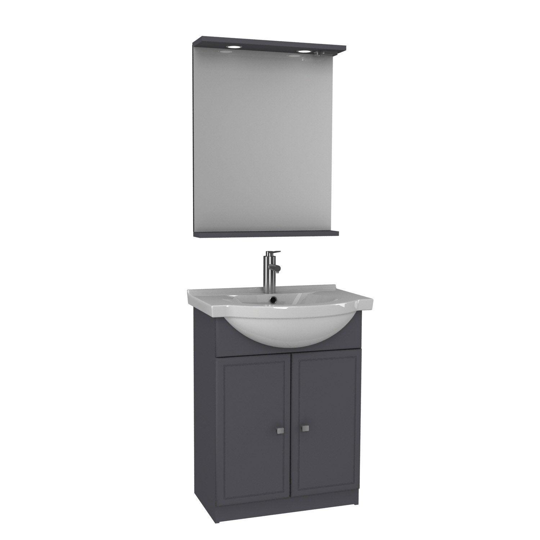 meuble salle de bain galice gris