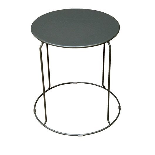 table basse aix ronde anthracite 2 personnes leroy merlin. Black Bedroom Furniture Sets. Home Design Ideas