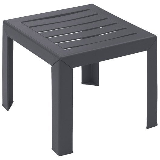 Table basse grosfillex miami carr e anthracite 2 personnes - Table murale rabattable leroy merlin ...