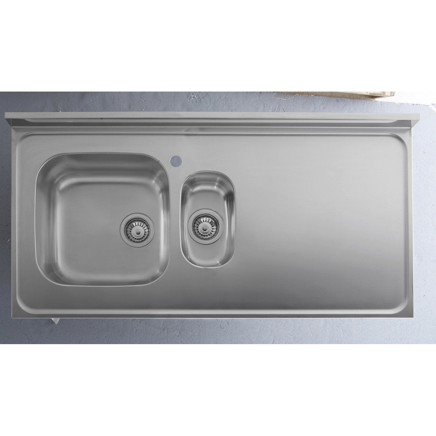 Plan Evier Inox Brillant L 120 X P 60 Cm Ep 42 Mm Leroy Merlin