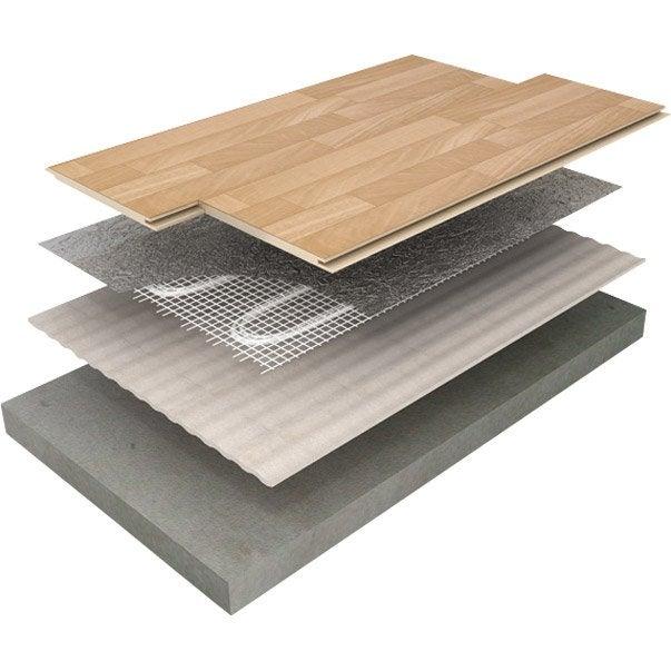Pose parquet flottant sur plancher chauffant electrique