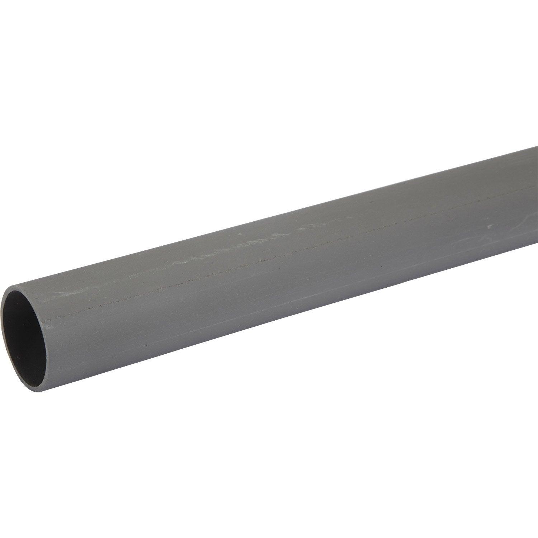 tube d 39 vacuation pvc mm l 2 m leroy merlin. Black Bedroom Furniture Sets. Home Design Ideas