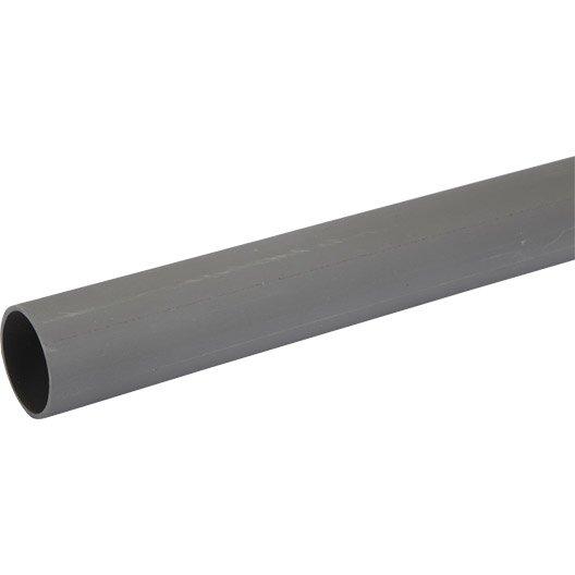 Tube d'évacuation PVC, Diam.40 mm, L.4 m