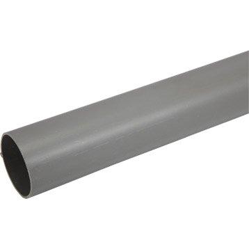 Tube d'évacuation PVC, Diam.63 mm, L.2 m