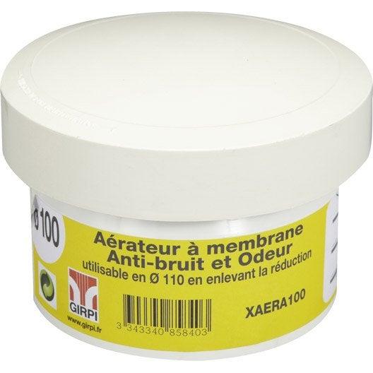 aérateur à membrane en pvc à coller, femelle, d110/100 | leroy merlin
