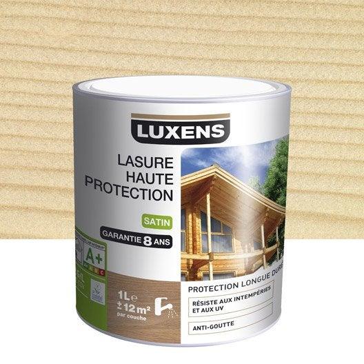 Meilleur Lasure Bois Exterieur - Lasure Haute protection LUXENS, incolore, aspect satin, 1 L
