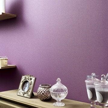 Papier peint expansé sur intissé Uni paillette, violet, larg. 0.53 m