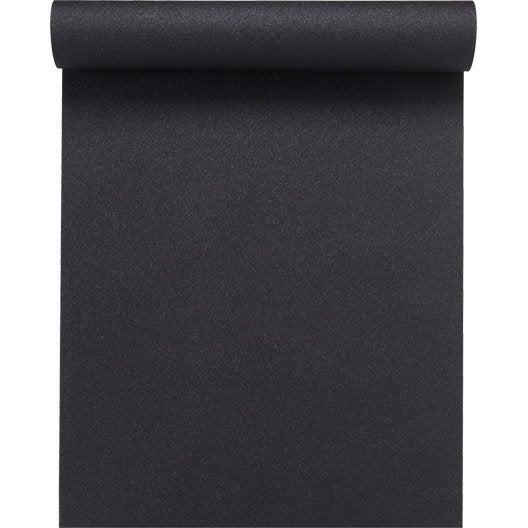 Papier peint expansé sur intissé Uni paillette, noir, larg. 0.53 m