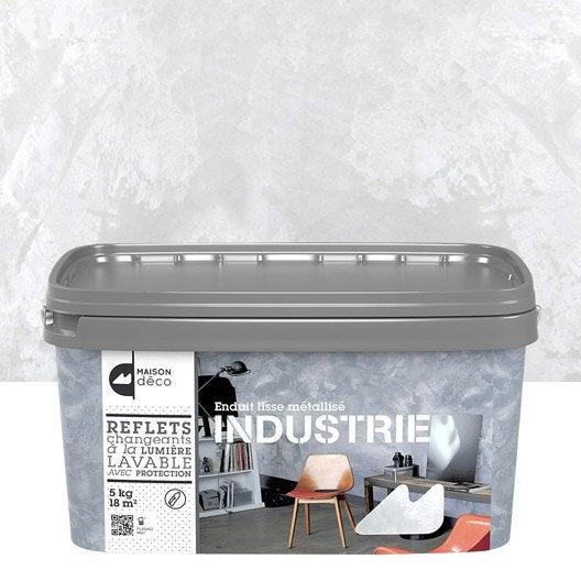 Peinture effet industrie maison deco fer blanc 5 kg leroy merlin for Peinture beige leroy merlin