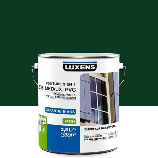 Peinture multimat riau ext rieur 3 en 1 luxens vert sapin for Peinture pvc exterieur