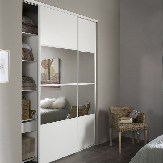 pose d 39 une porte de placard leroy merlin. Black Bedroom Furniture Sets. Home Design Ideas