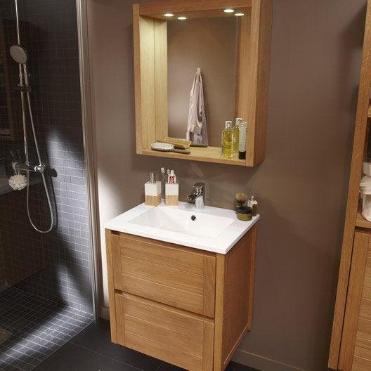 Pose d 39 un meuble de salle de bains simple vasque jusqu 39 120 cm par l - Stratifie salle de bain leroy merlin ...