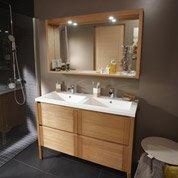 Pose d'un meuble de salle de bains double vasque jusqu'à 175 cm par Leroy Merlin