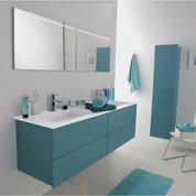 Pose de meuble de salle de bains pré-monté, largeur min 91 cm