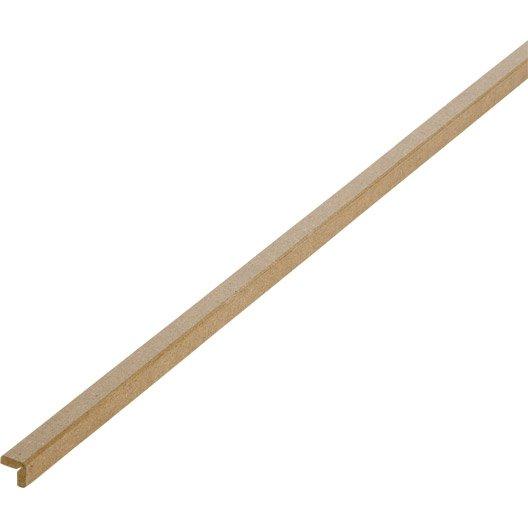Baguette d 39 angle m dium mdf arrondie 14 x 14 mm l 2 - Baguette d angle bois ...