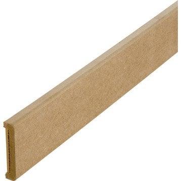 Nez de cloison médium (MDF) pour cloison de 70 mm , 11 x 73 mm, L. 2.5 m