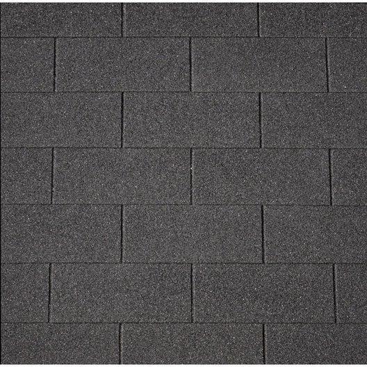 bardeau plat bitum e noir iko number one shingle l x l 1 m leroy merlin. Black Bedroom Furniture Sets. Home Design Ideas