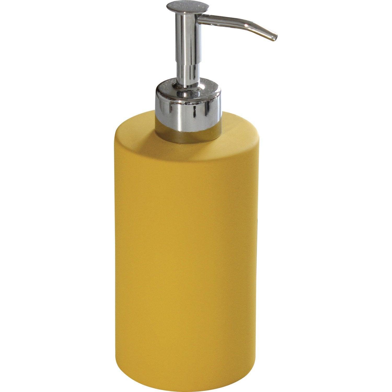 Distributeur de savon céramique jaune anis n°4