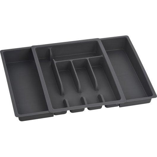 range couverts extensible gris gris n 1 x cm leroy merlin. Black Bedroom Furniture Sets. Home Design Ideas