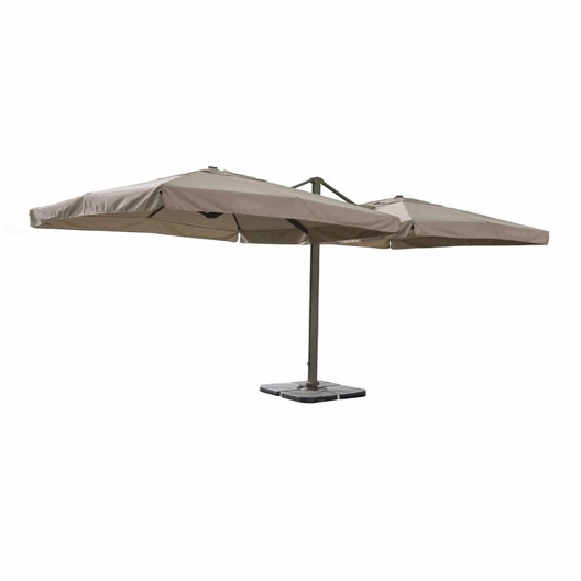 parasol d port calvi taupe carr x cm leroy merlin. Black Bedroom Furniture Sets. Home Design Ideas