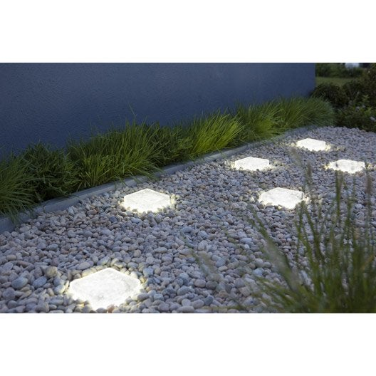 Pav lumineux verre recycl 70 lumineux cm x cm x mm - Pave exterieur point p ...