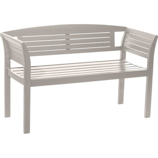 banc 2 places de jardin en bois new york argile douce leroy merlin. Black Bedroom Furniture Sets. Home Design Ideas