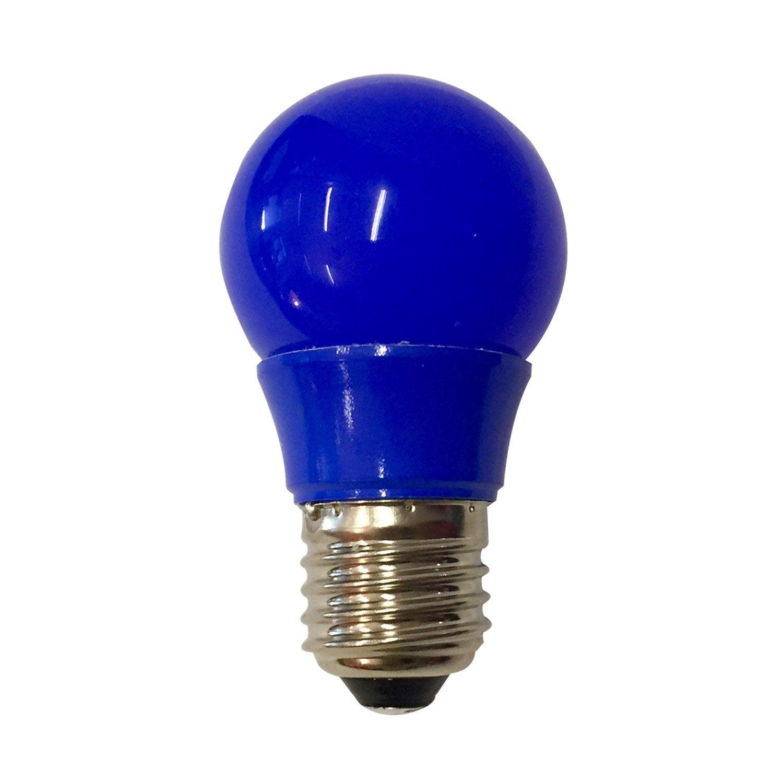 ampoule sph rique led 2 5w 250lm e27 bleue lexman leroy merlin. Black Bedroom Furniture Sets. Home Design Ideas