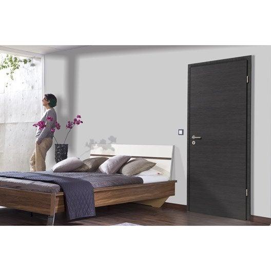 porte fin de chantier londres rev tu d cor ch ne gris 204x83 cm poussant droit leroy merlin. Black Bedroom Furniture Sets. Home Design Ideas