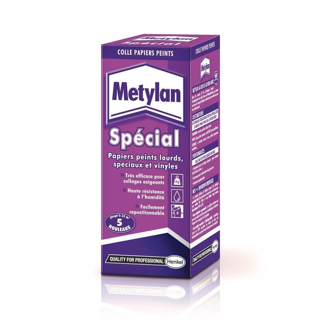Colle tous papiers peints METYLAN, 0.2 kg   Leroy Merlin