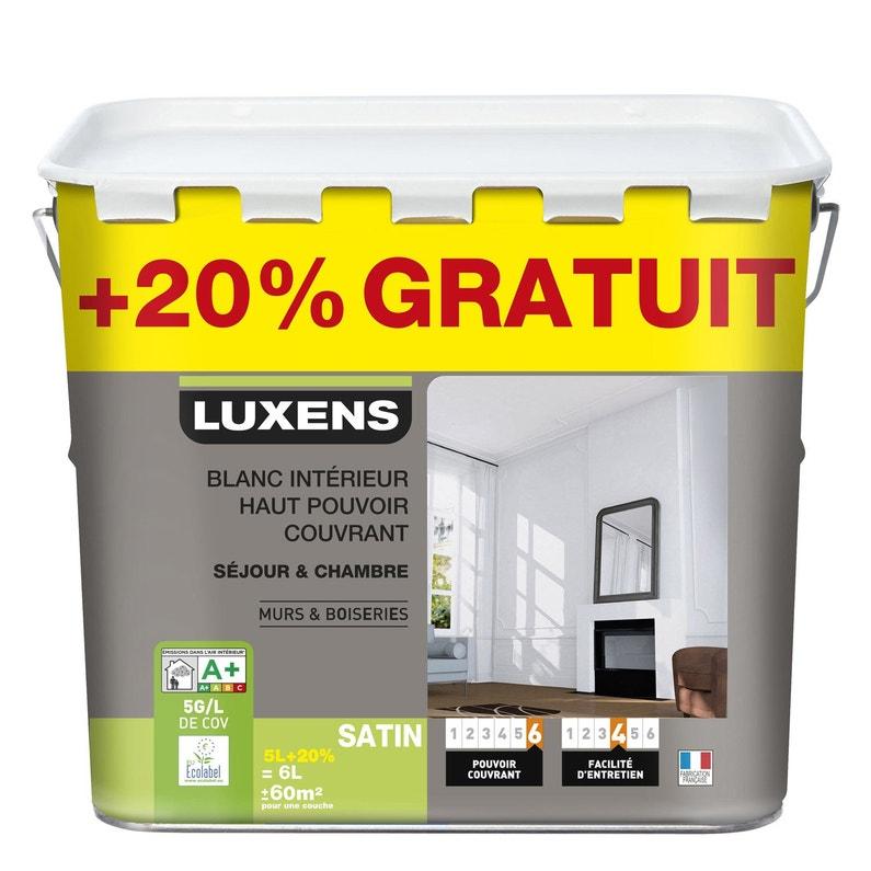 Peinture Blanche Mur Et Boiserie Haut Pouvoir Couvrant Luxens Satin