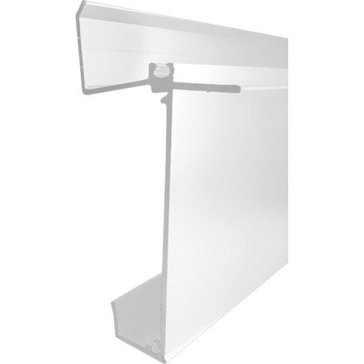 kit profil mural inf rieur blanc laqu l 4 m leroy merlin. Black Bedroom Furniture Sets. Home Design Ideas