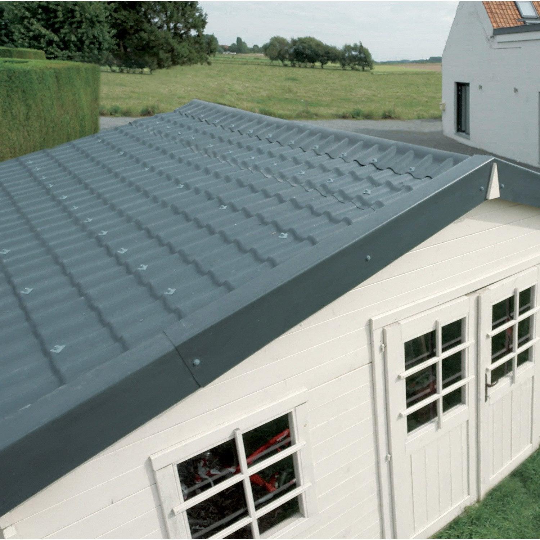 Plaque de toiture onde hollandaise plastique gris l.0.75 x L.2.22 m COVERITE | Leroy Merlin