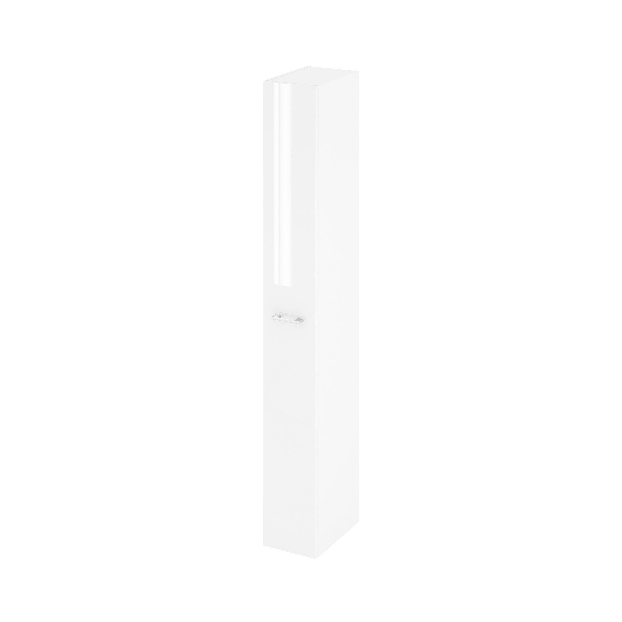 Colonne de salle de bains l.22 x H.173 x P.34.8 cm, blanc, Remix